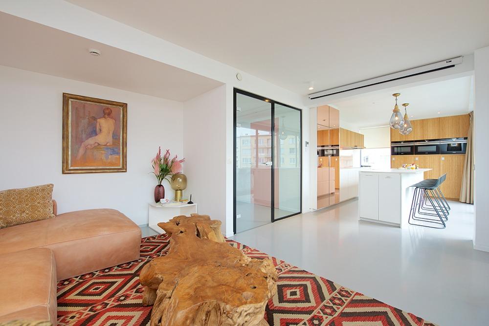 Het gastenverblijf of guesthouse met open living en keuken waar u kunt verblijven na een operatie.